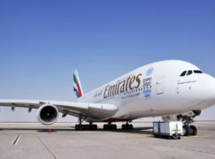 Emirates presente no Bahrain International Airshow com o A380