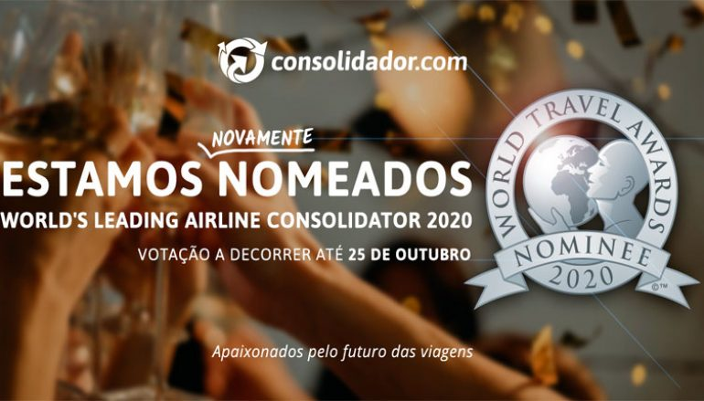 Consolidador.com nomeado para os World Travel Awards 2020