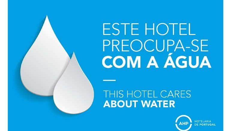 "Campanha ""We Care About Water By AHP"" a correr nos Hotéis de Portugal"